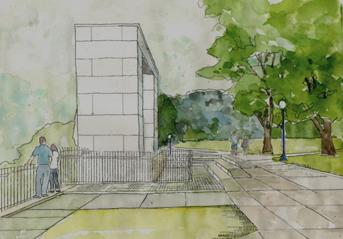 Rendering of Prospect Terrace restoration project. (Bradford Associates)