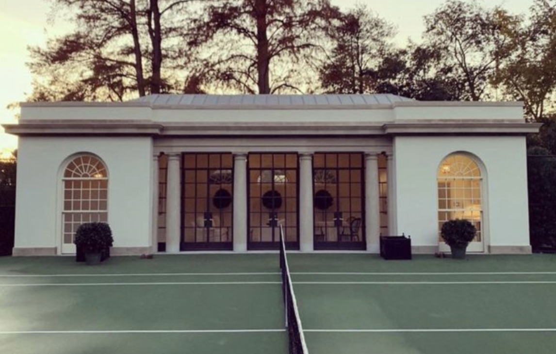 Tennis pavilion promoted by Melania Trump on the White House grounds. (White House)